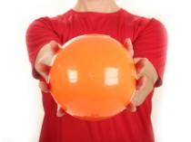 LiveUp Sports Маленький фитнес-мяч Orange